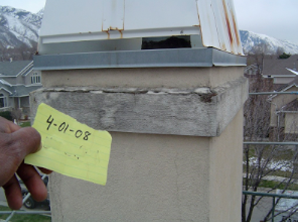 Utah chimney cap and shroud repair