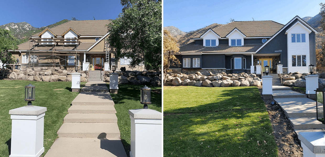 Residential Stucco Remodeling Before & After by RAM Builders Stucco & Exteriors